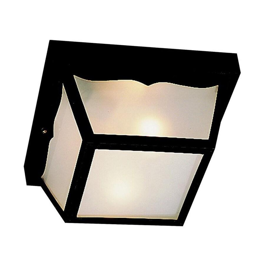 Kichler Lighting New Street 8.5-in W Black Outdoor Flush-Mount Light