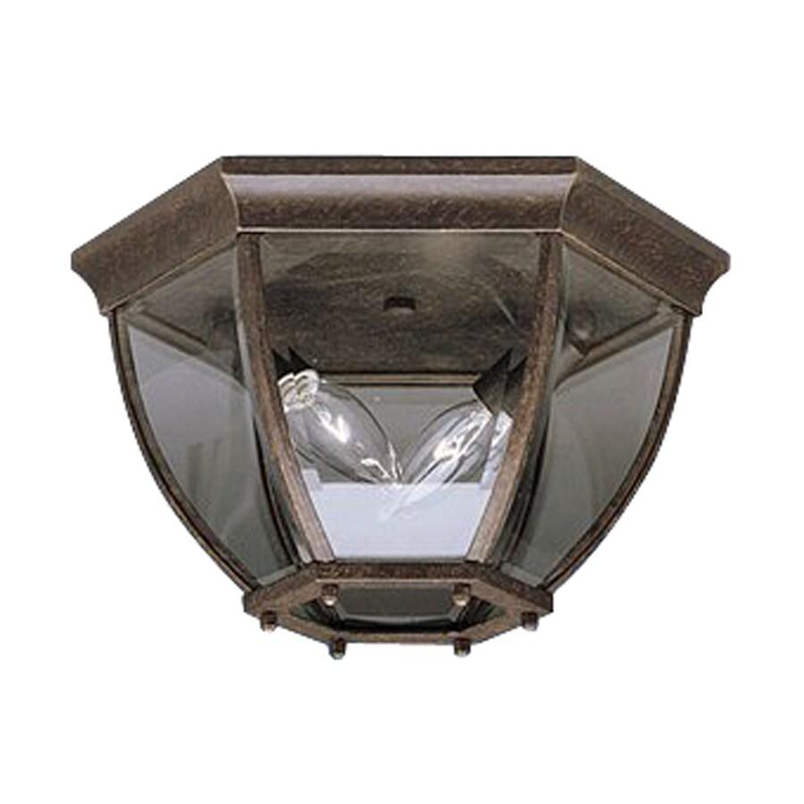Kichler Lighting Townhouse 12-in W Tannery Bronze Outdoor Flush-Mount Light