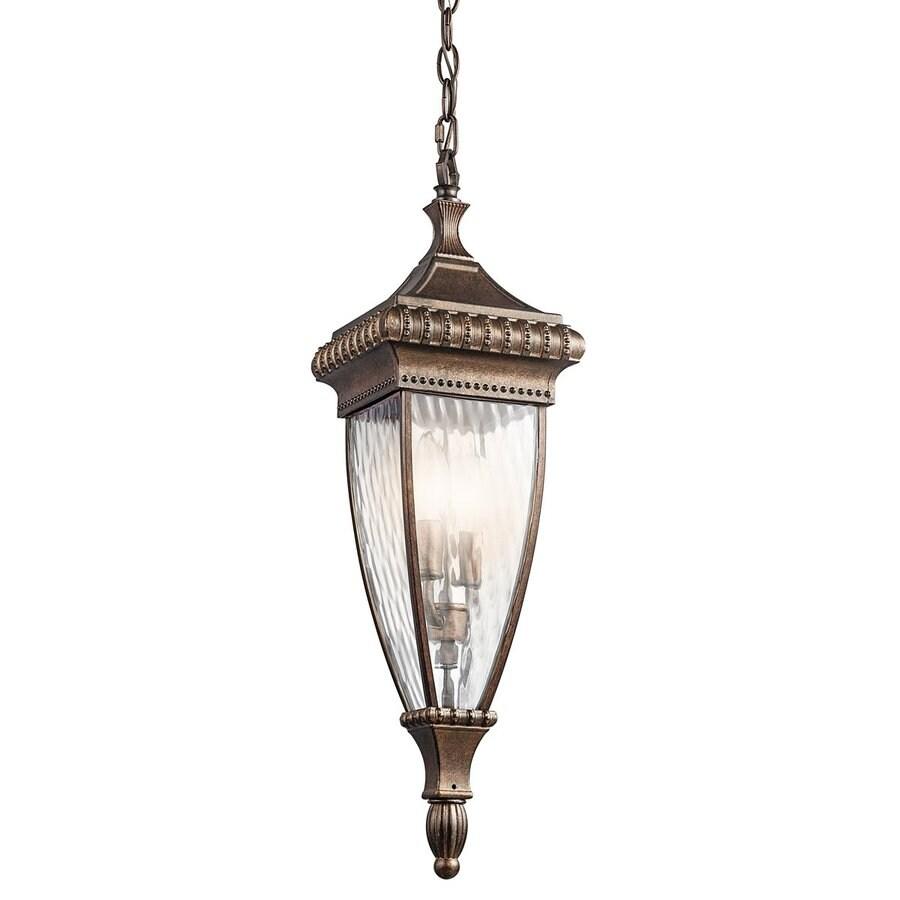 Kichler Lighting Venetian Rain 24.75-in Bronze Hardwired Outdoor Pendant Light