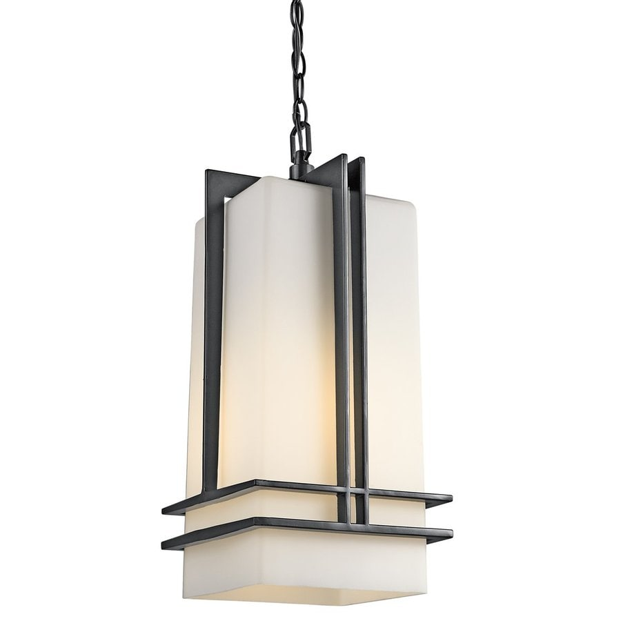 Kichler Lighting Tremillo 17-in Black Outdoor Pendant Light