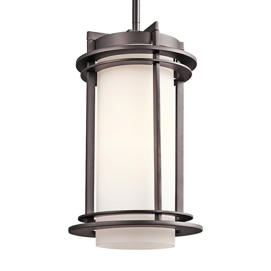 Kichler Lighting Pacific Edge 13.5-in Architectural Bronze Outdoor Pendant Light