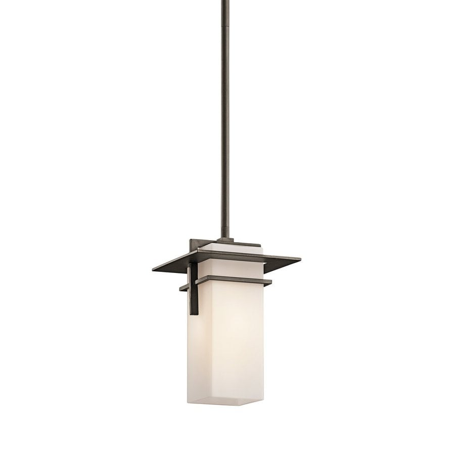 Kichler Lighting Caterham 16-in Olde Bronze Outdoor Pendant Light