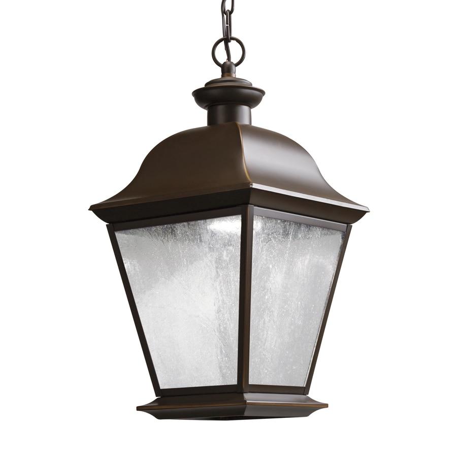 Kichler Lighting Mount Vernon 18.5-in Olde Bronze Outdoor Pendant Light