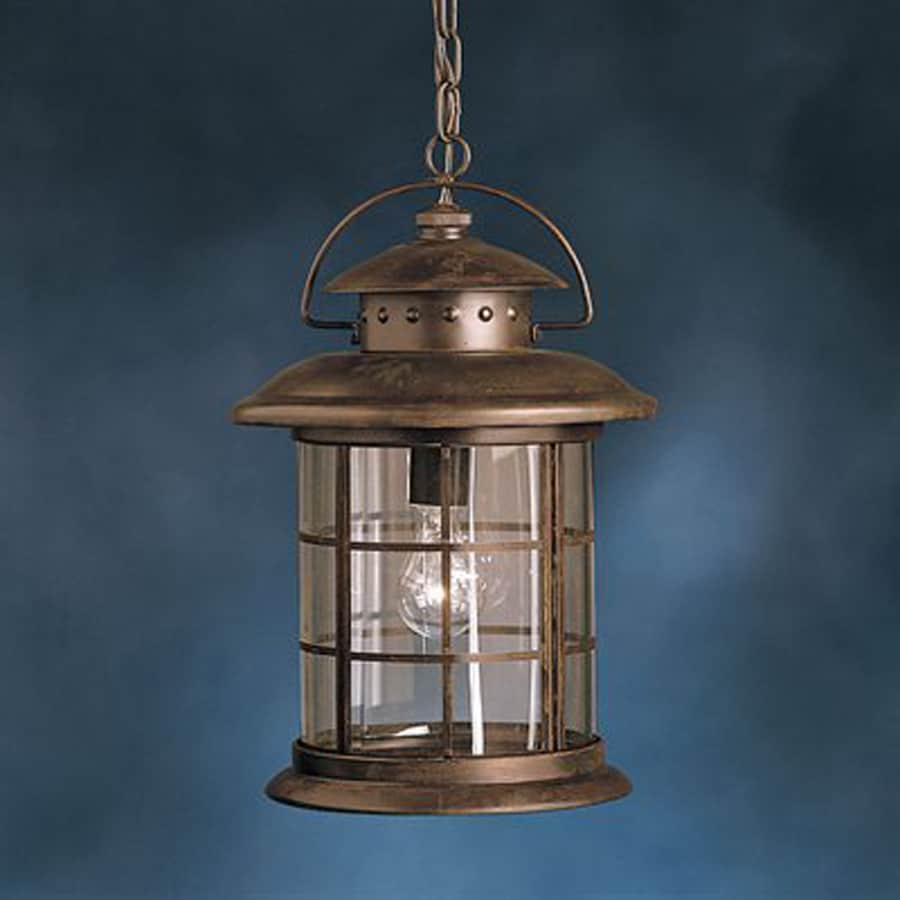 Shop Kichler Lighting Rustic 17.75-in Rustic Outdoor Pendant Light at Lowes.com