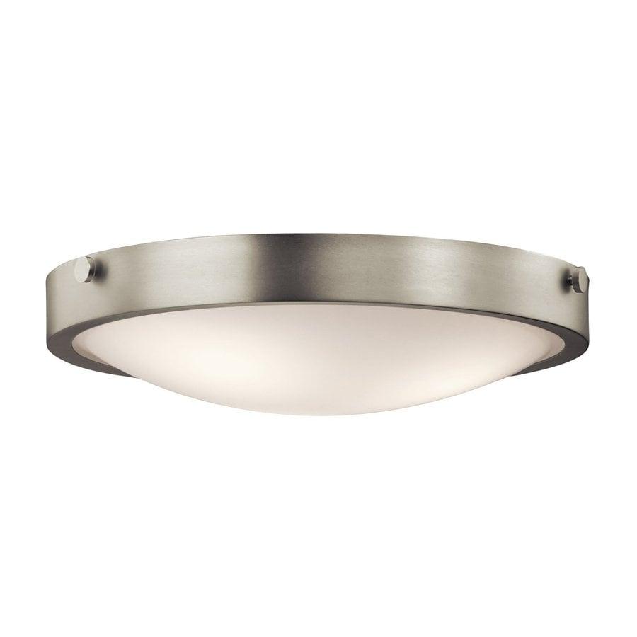 Kichler Lighting Lytham 17.5-in W Brushed Nickel Ceiling Flush Mount Light