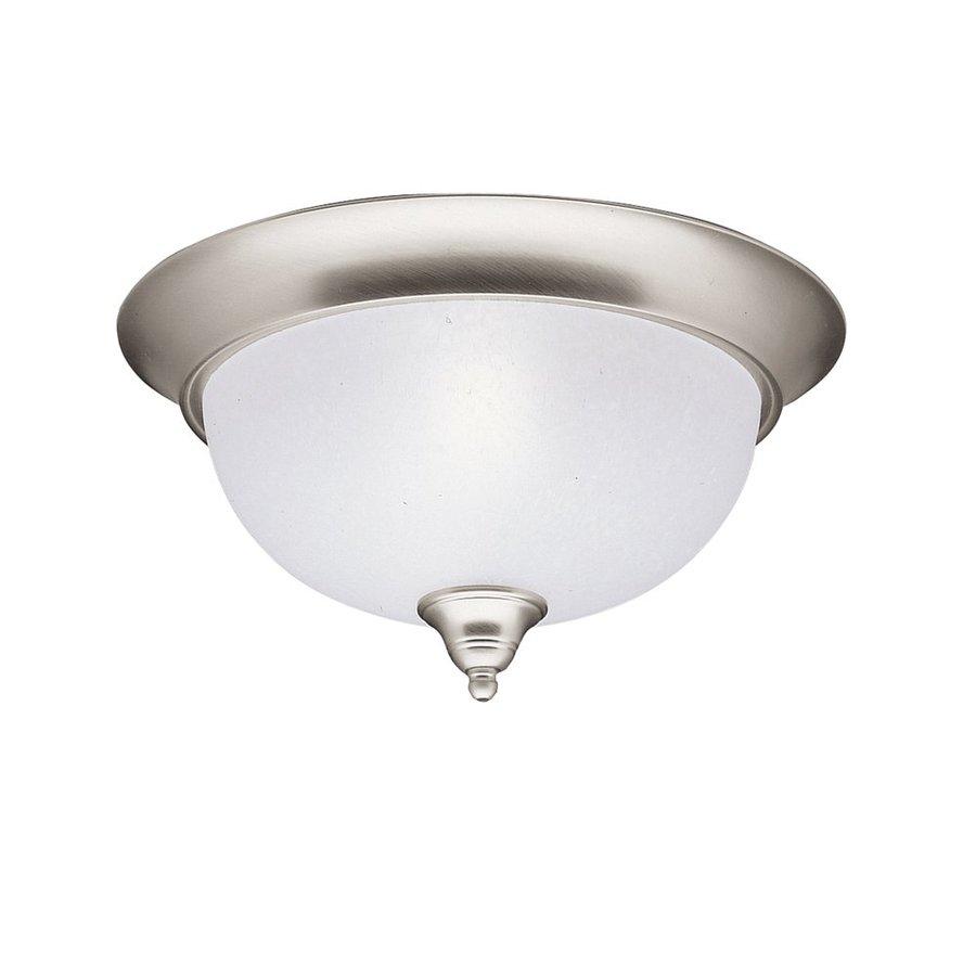 Kichler Lighting Dover 13.25-in W Brushed Nickel Ceiling Flush Mount Light