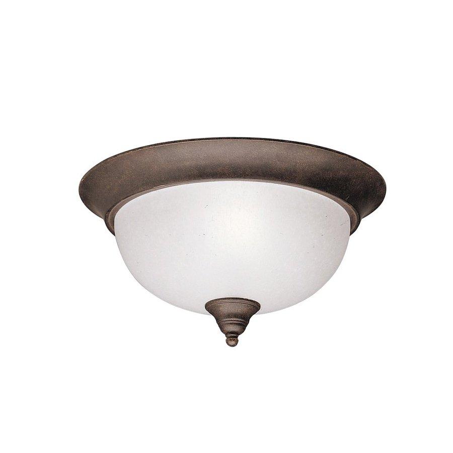Kichler Lighting Dover 13.25-in W Tannery Bronze Ceiling Flush Mount Light