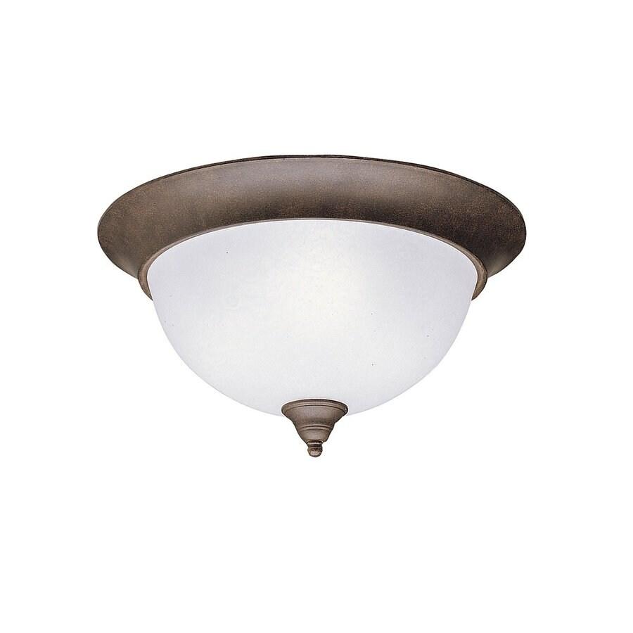 Kichler Lighting Dover 15.25-in W Tannery Bronze Ceiling Flush Mount Light