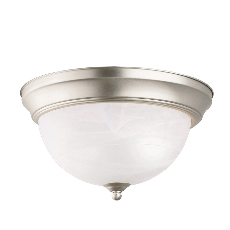 Kichler Lighting 11.25-in W Brushed Nickel Ceiling Flush Mount Light