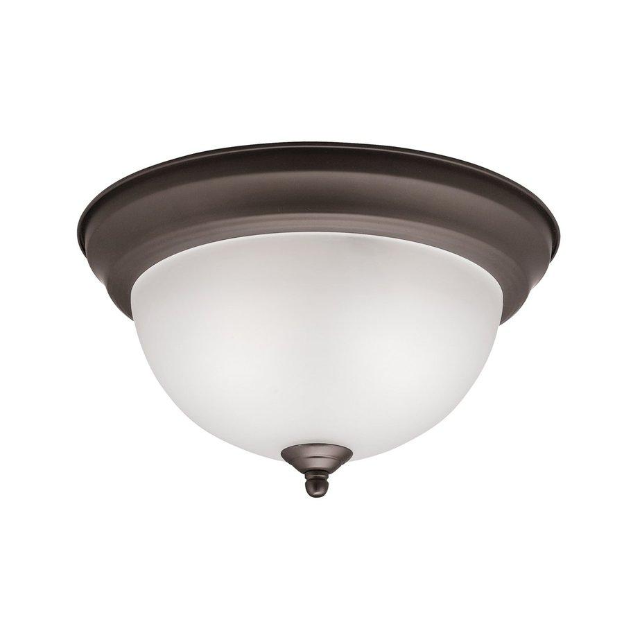 Kichler Lighting 11.25-in W Olde Bronze Ceiling Flush Mount Light