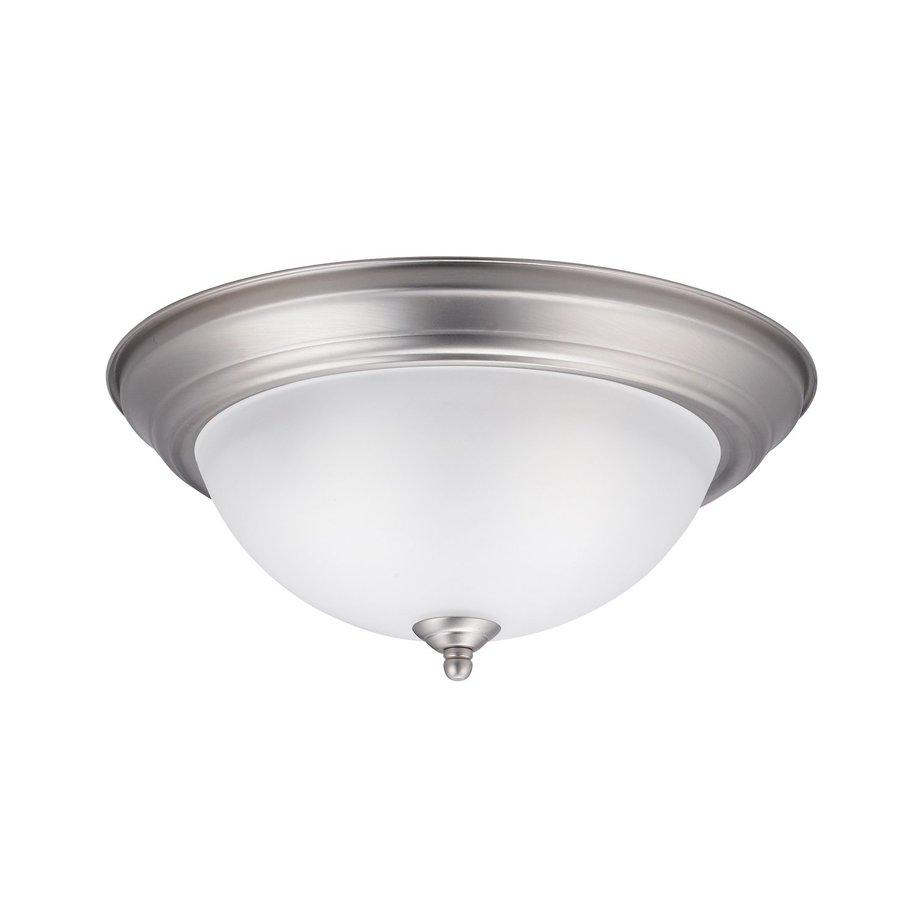 Shop Kichler Lighting W Brushed Nickel Ceiling Flush Mount Light At