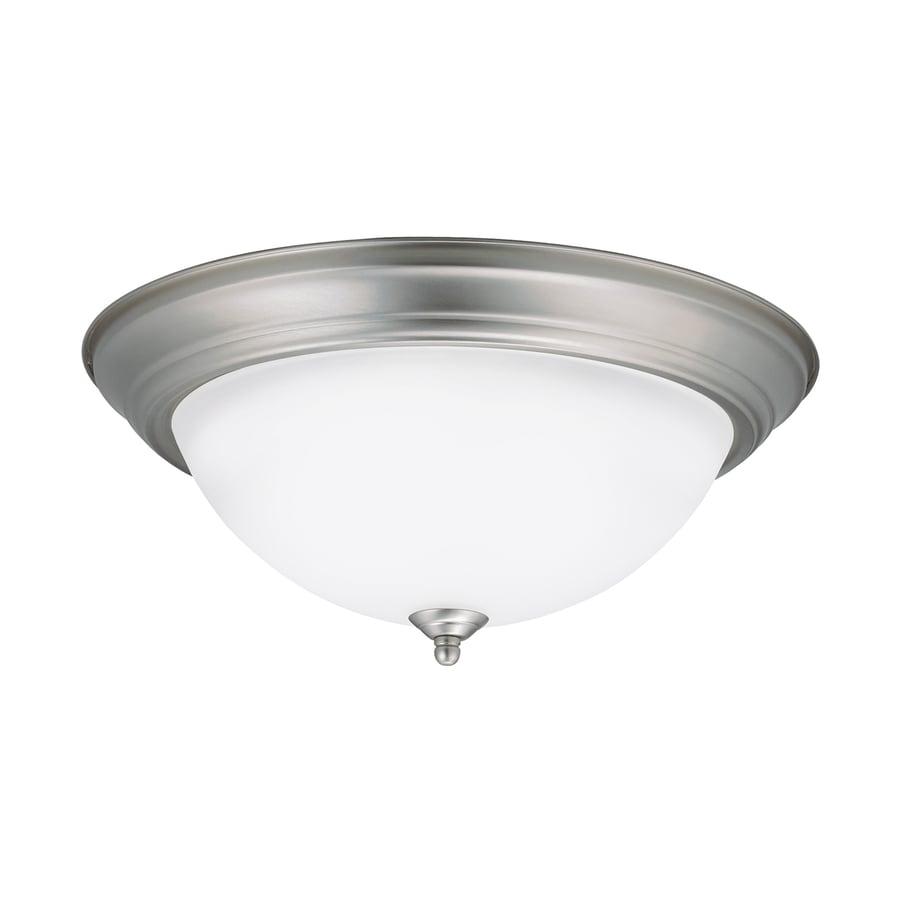 Kichler Lighting 15.25-in W Brushed Nickel LED Ceiling Flush Mount Light