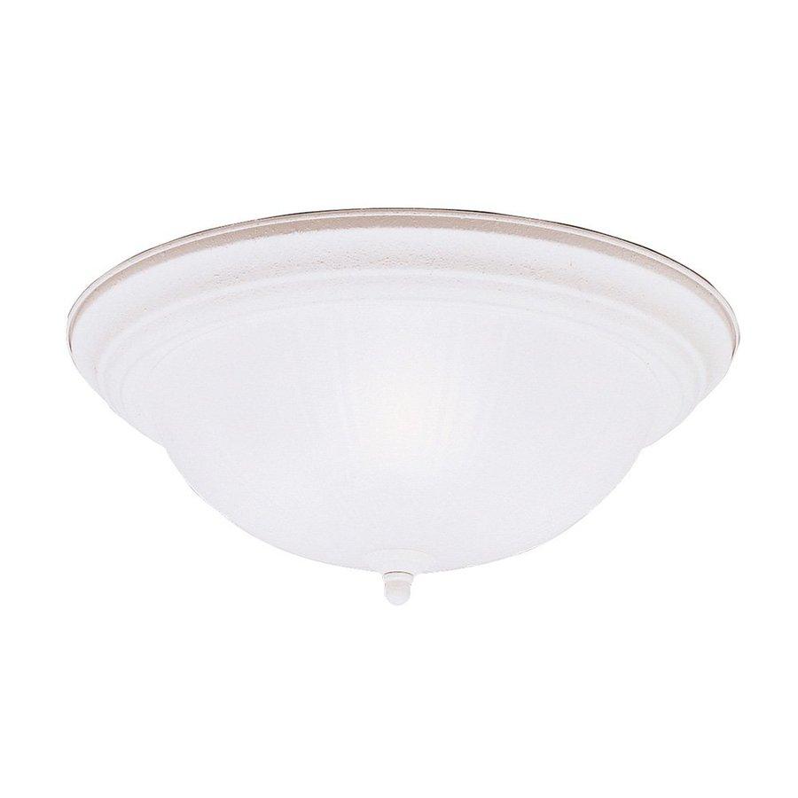 Kichler Lighting 15.25-in W Stucco White Ceiling Flush Mount Light