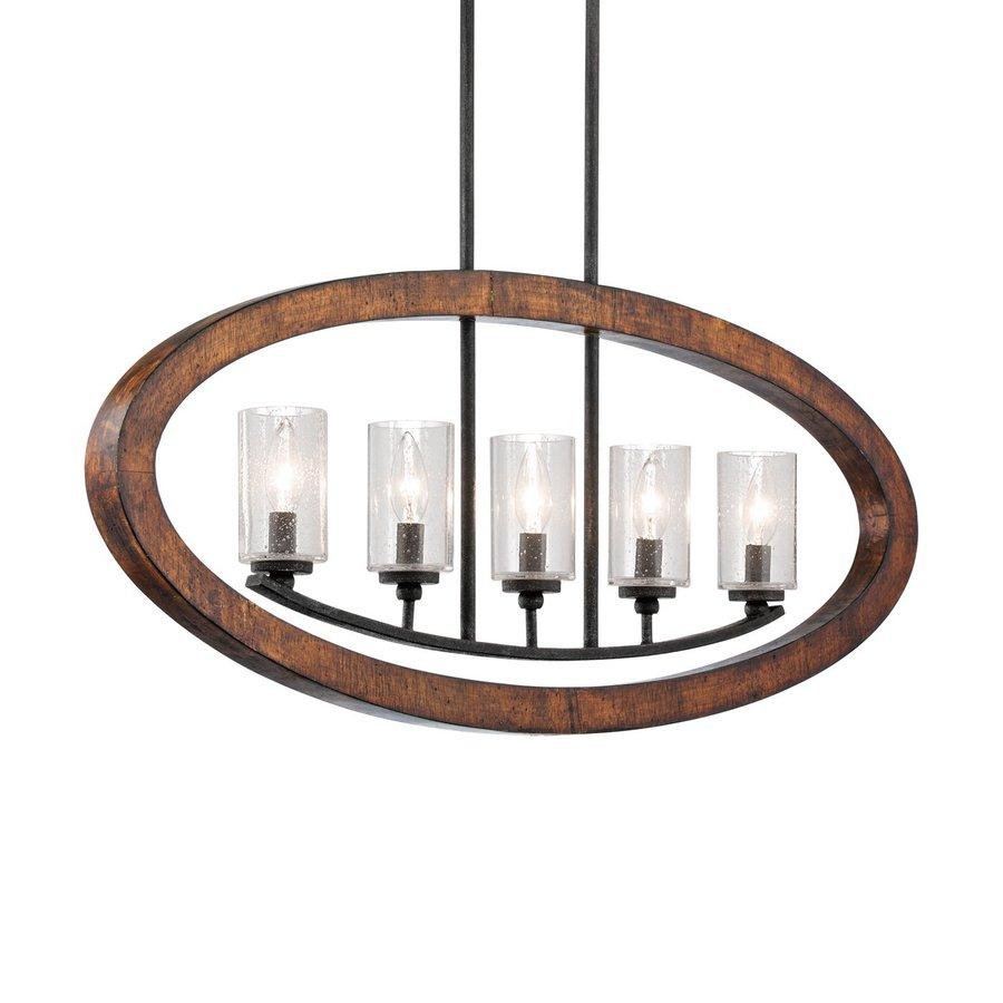Kichler Kitchen Lighting: Shop Kichler Lighting Grand Bank 36-in W 5-Light Auburn