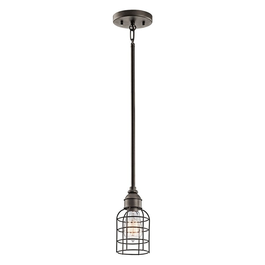 Kichler Lighting 5-in Olde Bronze Industrial Hardwired Mini Cage Pendant