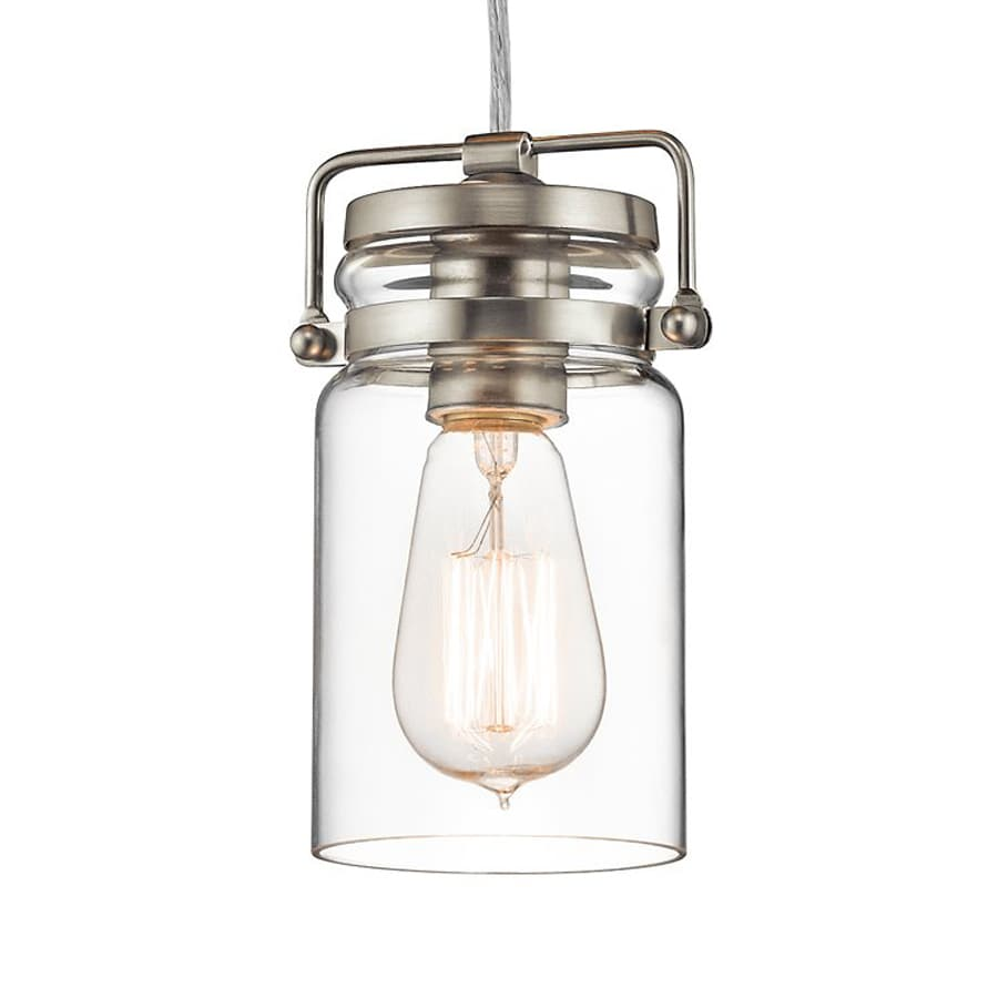 Shop Kichler Lighting Brinley Brushed Nickel Industrial Hardwired Min