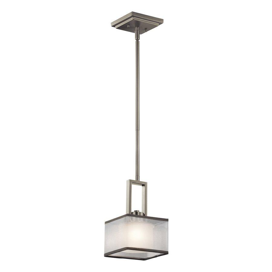 Kichler Lighting Kailey 6-in Brushed Nickel Hardwired Mini Square Pendant