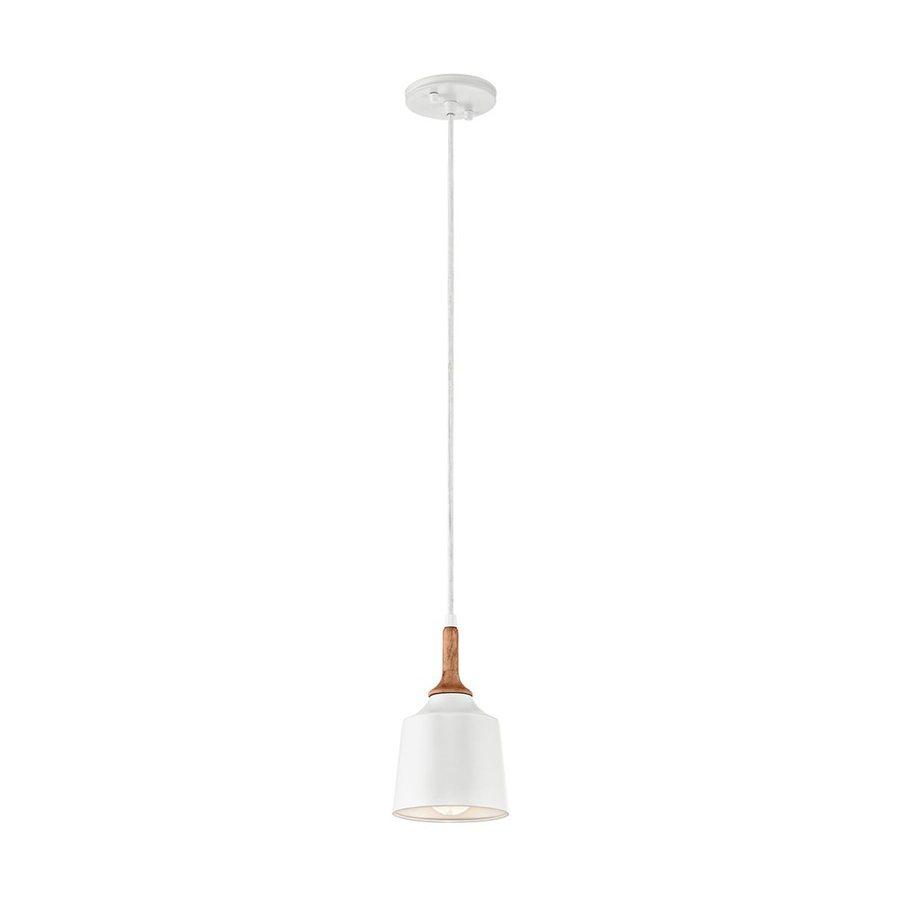 Kichler Lighting Danika 5.25-in White Industrial Hardwired Mini Bell Pendant