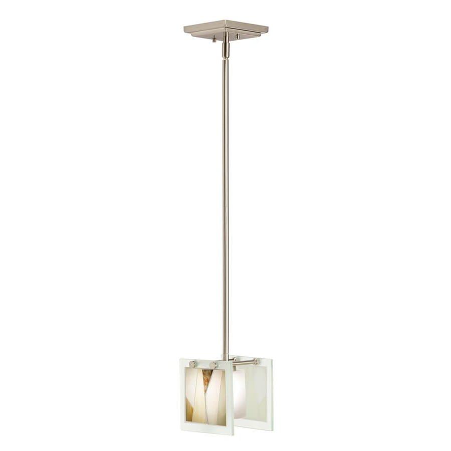 Tiffany Pendant Lights Brushed Nickel : Kichler lighting khione in brushed nickel tiffany