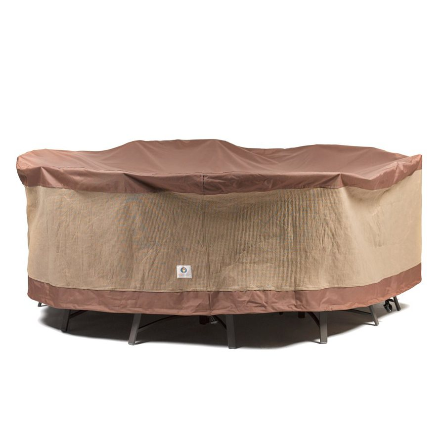 Duck Covers Ultimate Series Mocha Cappuccino Polyester Dining Set Cover
