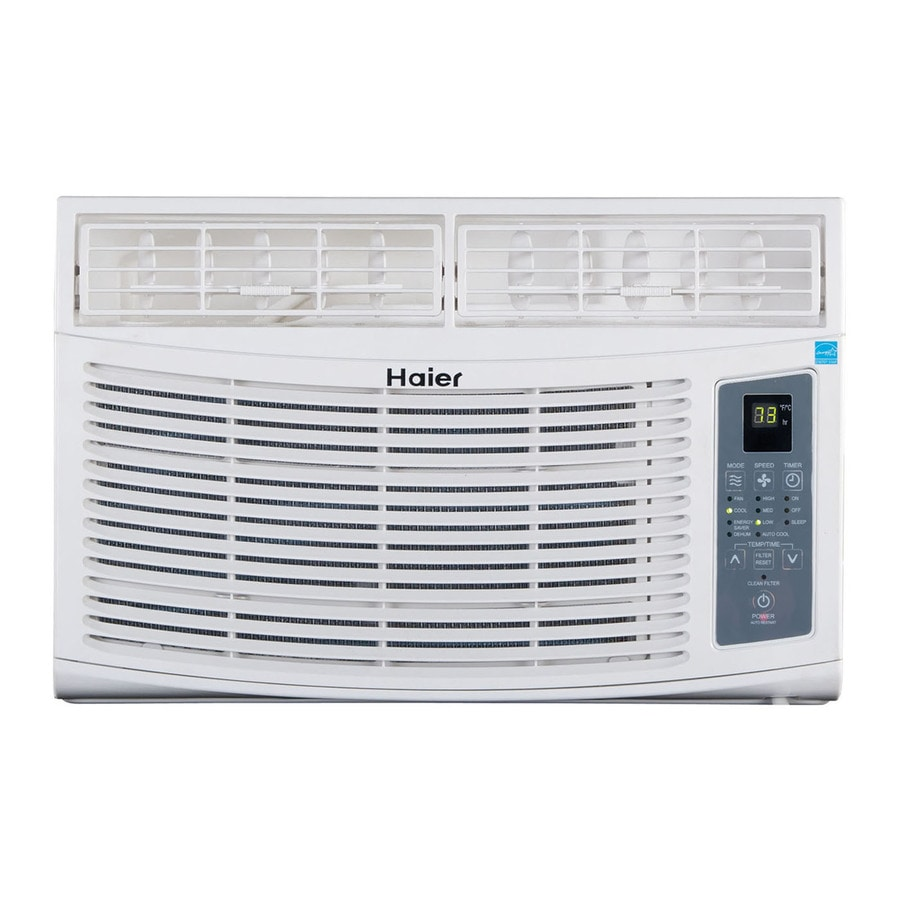 Shop haier 6 000 btu 250 sq ft 115 volt window air for 12 inch high window air conditioner