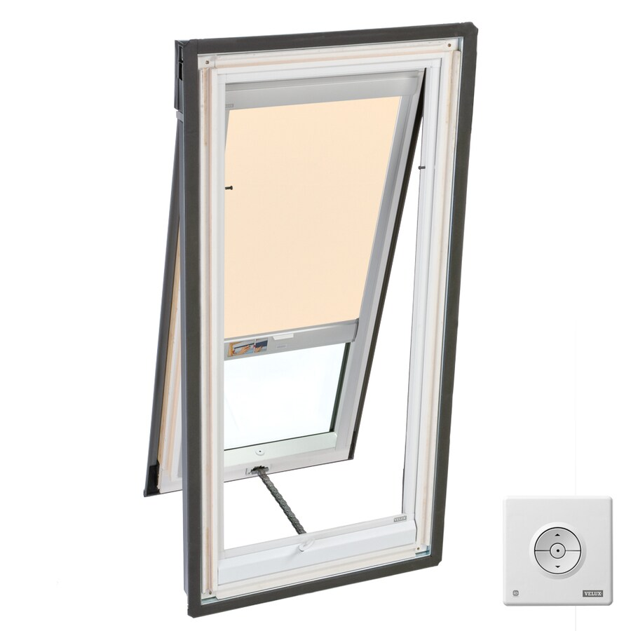Shop velux venting laminated skylight with solar powered for Solar powered blinds for skylights