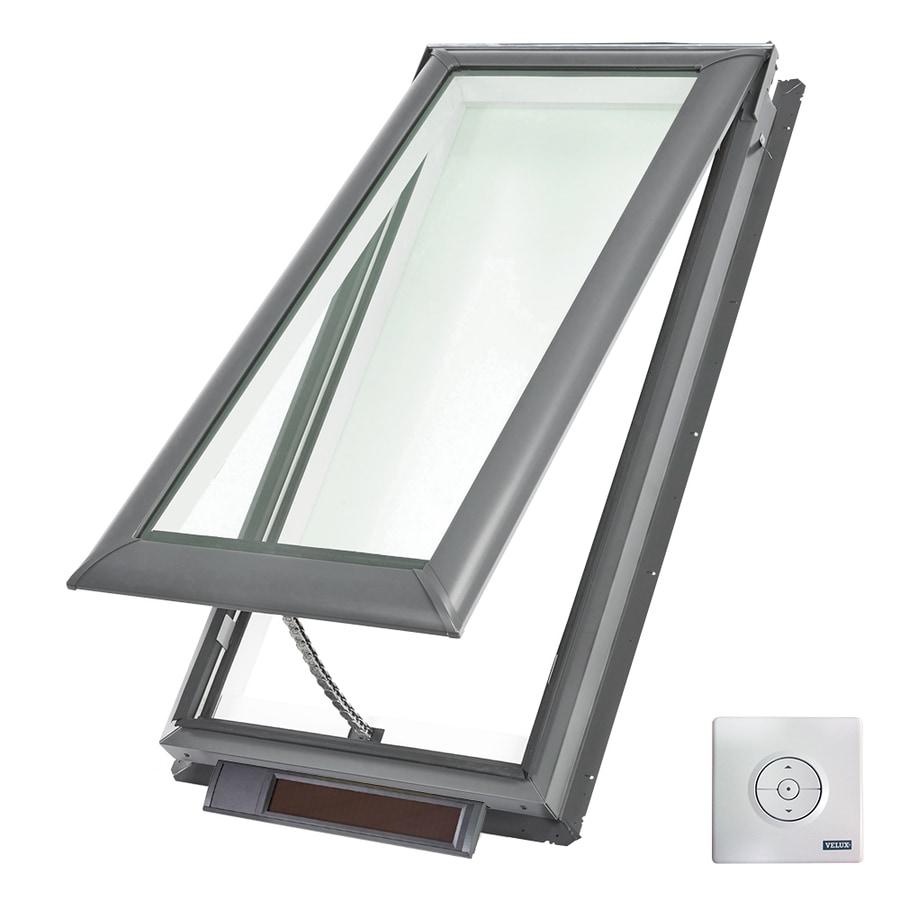 Shop velux solar powered venting laminated skylight with for Solar powered blinds for skylights