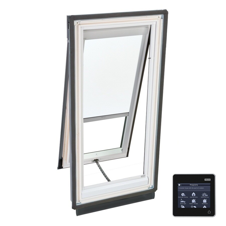 VELUX Solar-Powered Venting Laminated Skylight with Solar-Powered Light-Blocking Shade (Fits Rough Opening: 30.06-in x 54.44-in; Actual: 33.06-in x 57.44-in)