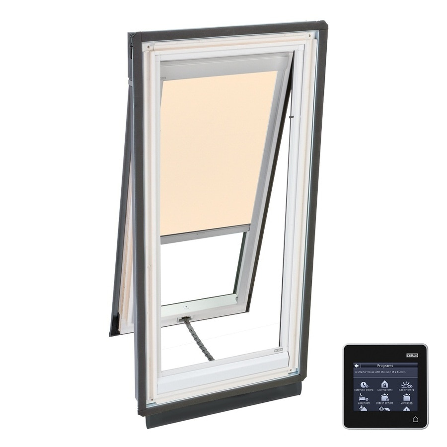 VELUX Solar-Powered Venting Laminated Skylight with Solar-Powered Light-Filtering Shade (Fits Rough Opening: 30.06-in x 54.44-in; Actual: 33.06-in x 57.44-in)