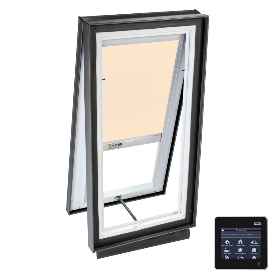 VELUX Solar-Powered Venting Laminated Skylight with Solar-Powered Light-Filtering Shade (Fits Rough Opening: 46.5-in x 46.5-in; Actual: 51.375-in x 51.375-in)