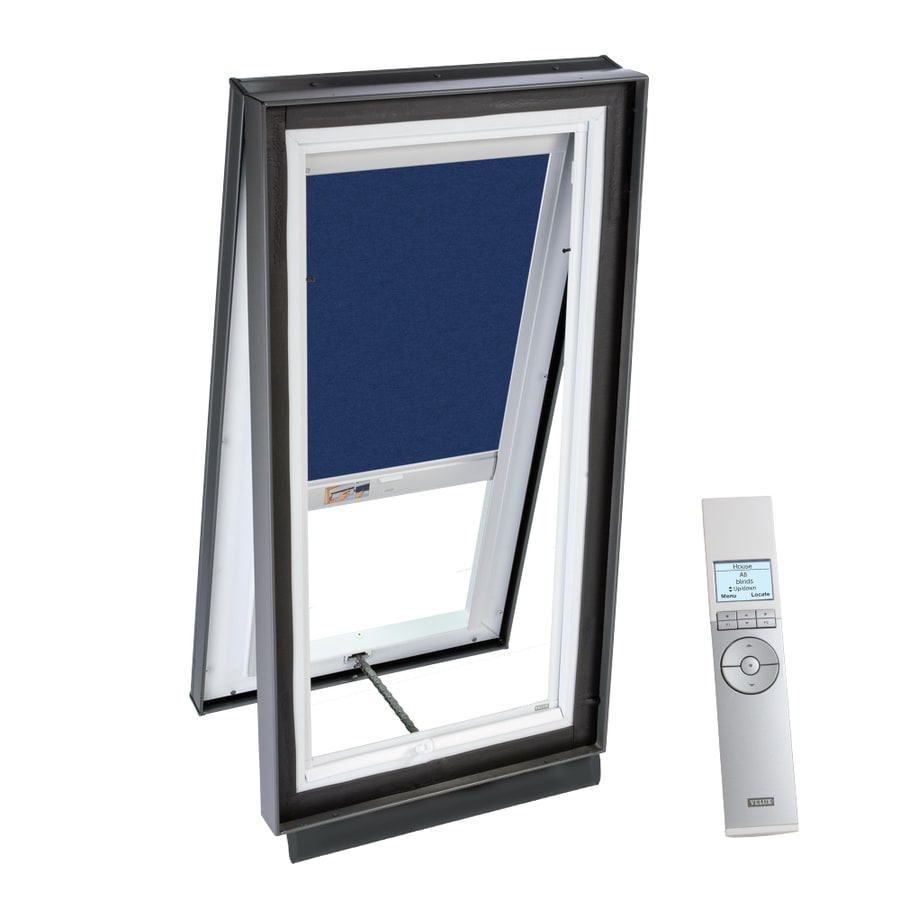 VELUX 51-1/8-in x 51-1/8-in x 5-5/8-in Solar-Powered Venting Laminated Skylight with Solar-Powered Light-Filtering Shade