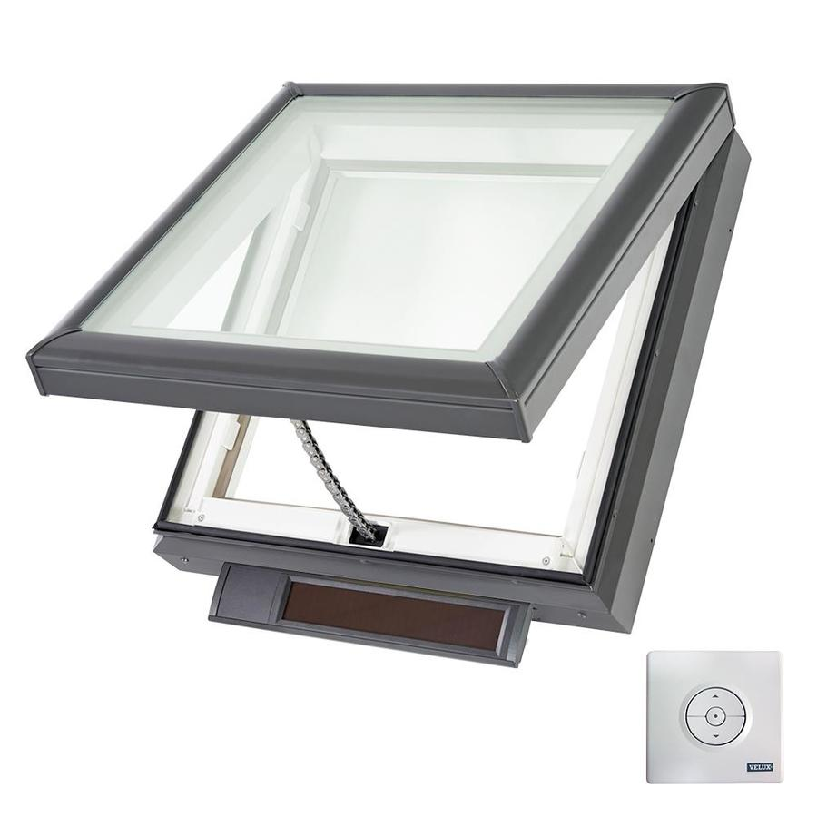 VELUX Solar-Powered Venting White Laminated Skylight (Fits Rough Opening: 22.5-in x 22.5-in; Actual: 27.375-in x 27.375-in)