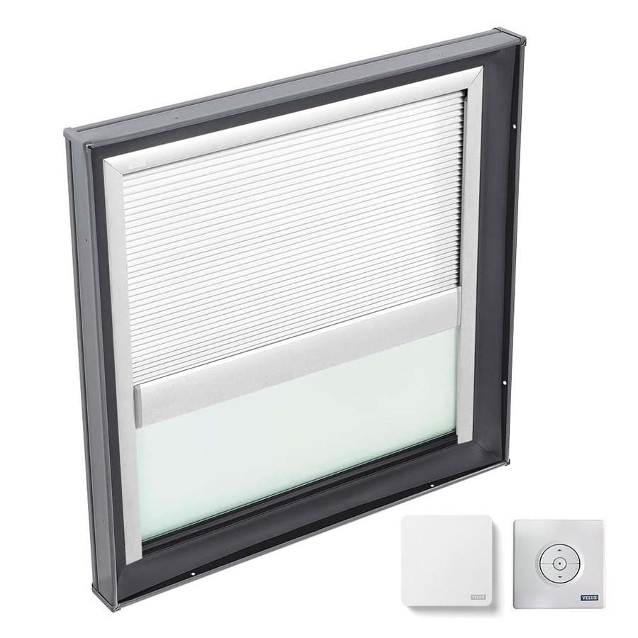 VELUX Fixed Laminated Skylight with Solar-Powered Light-Blocking Shade (Fits Rough Opening: 22.5-in x 22.5-in; Actual: 27.375-in x 27.375-in)