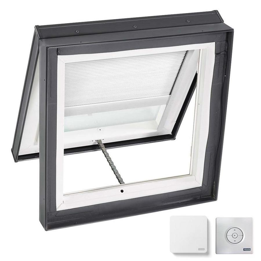 VELUX Venting Laminated Skylight with Solar-Powered Light-Blocking Shade (Fits Rough Opening: 22.5-in x 22.5-in; Actual: 27.375-in x 27.375-in)