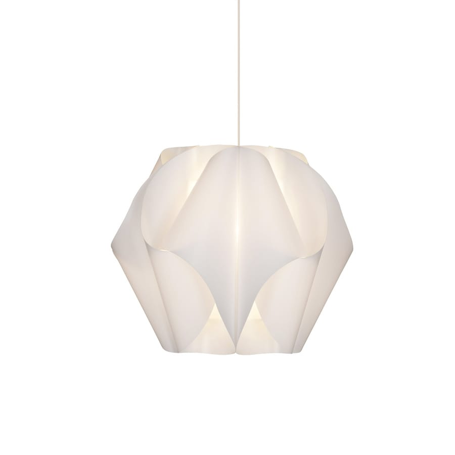 Style Selections Gambrell 16.5-in White Plug-in Single Pendant