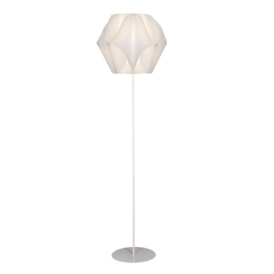 Style Selections Gambrell 63.4-in White Finish Indoor Floor Lamp with Plastic Shade