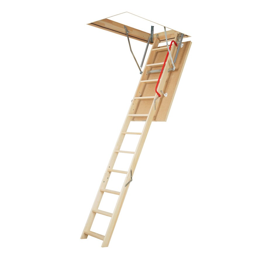 FAKRO LWP - Insulated 7.42-ft to 8.92-ft Type IA Wood Attic Ladder