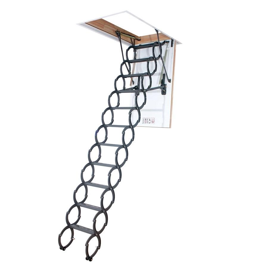 FAKRO LST - Insulated (Scissor) 7.54-ft to 9.2-ft Steel Attic Ladder