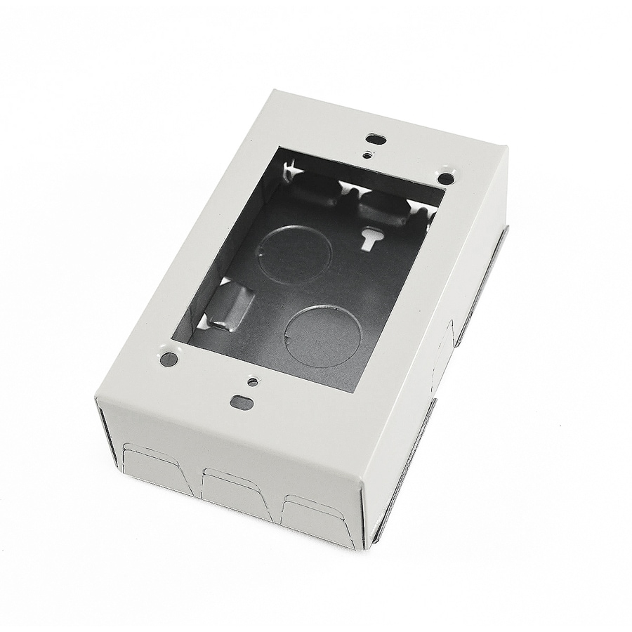 Mono-Systems, Inc. 1-Gang White Steel Interior Old Work Deep Square Wall Electrical Box