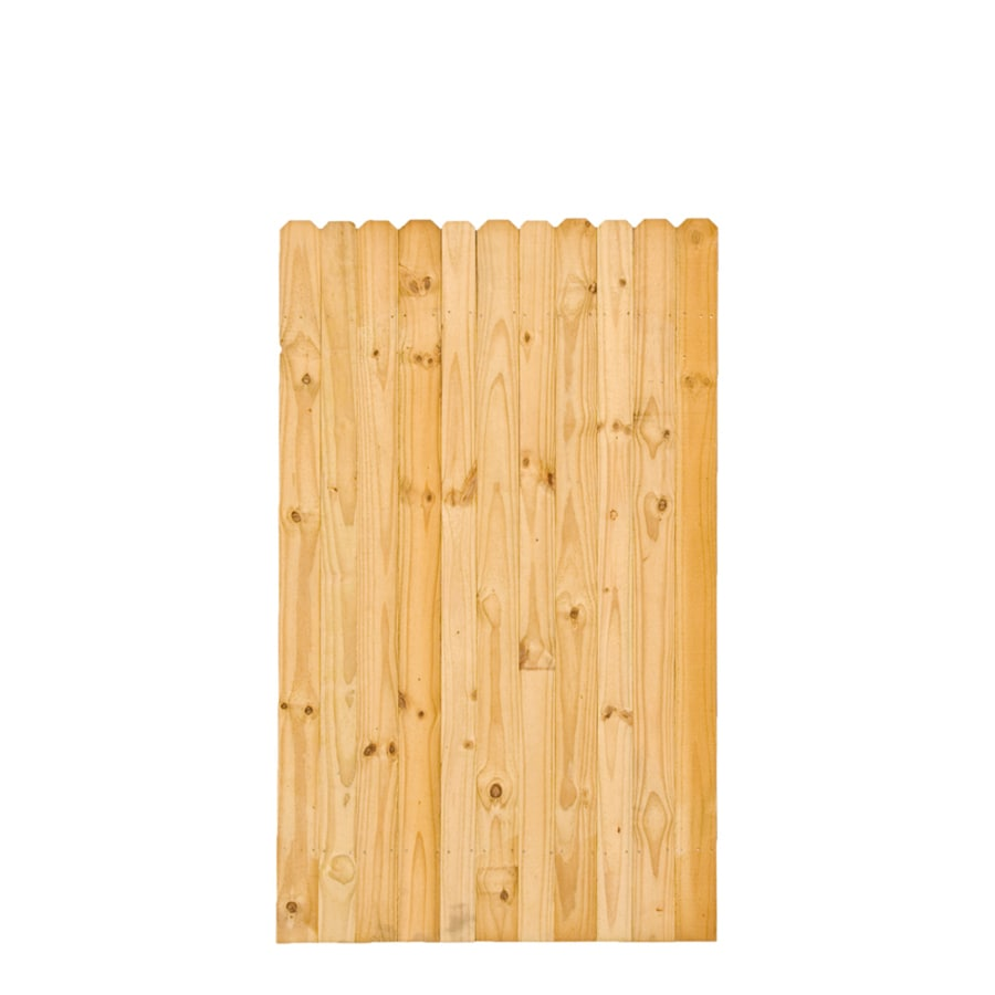 Severe Weather Pressure Treated Pine Semi-Privacy Fence Gate (Common: 3.6-ft x 6-ft; Actual: 3.6-ft x 6-ft)