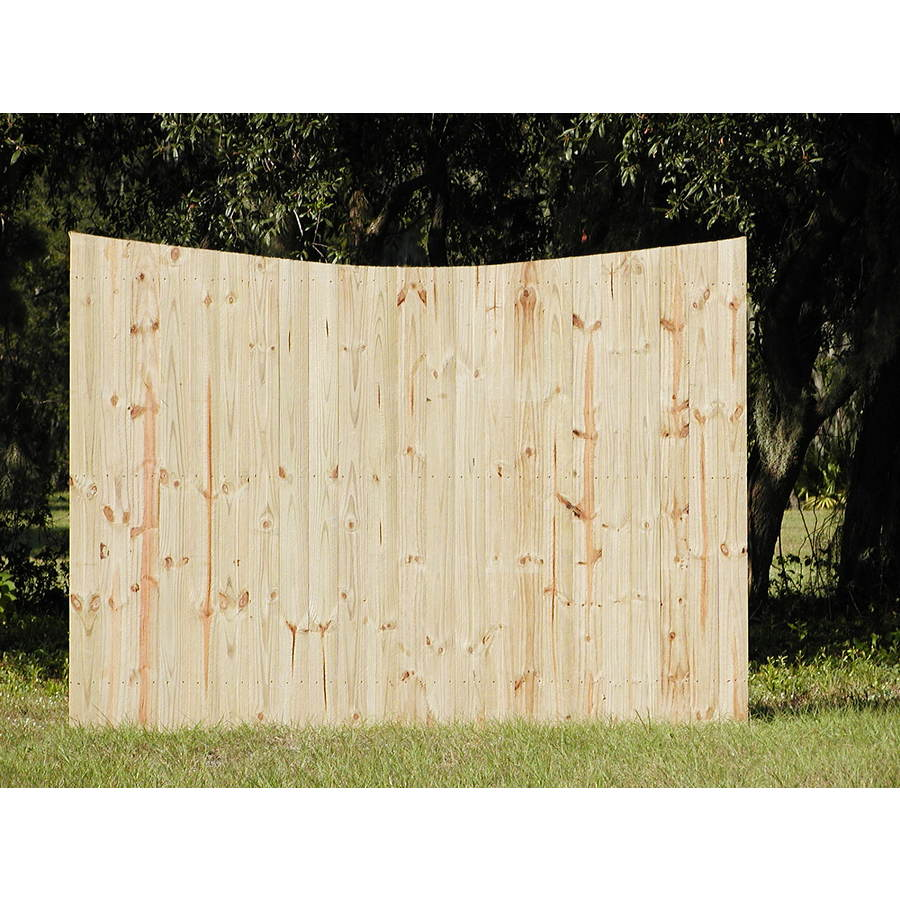 Shop natural pressure treated pine semi privacy fence for Natural privacy fence