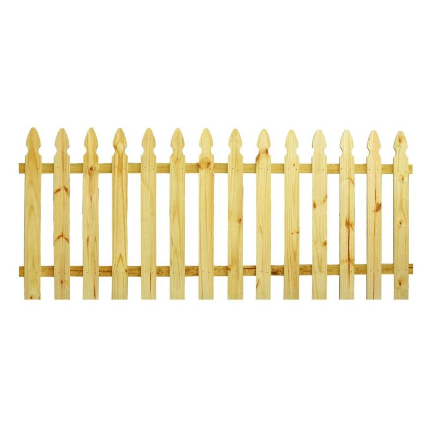 Severe Weather Natural Pressure Treated Pine Semi-Privacy Fence Panel (Common: 8-ft x 3.5-ft; Actual: 8-ft x 3.5-ft)