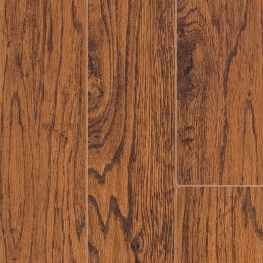 Shop pergo max handscraped hickory wood planks sample for Hardwood floors hickory