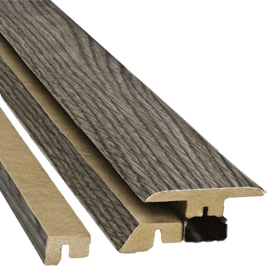 SimpleSolutions 2.37-in x 78.74-in Gray Oak 4-N-1 Floor Moulding