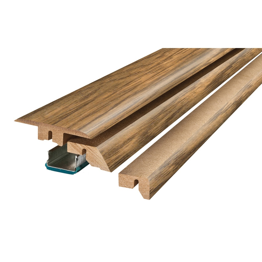 SimpleSolutions 2.37-in x 78.74-in Antique Hickory 4-N-1 Floor Moulding