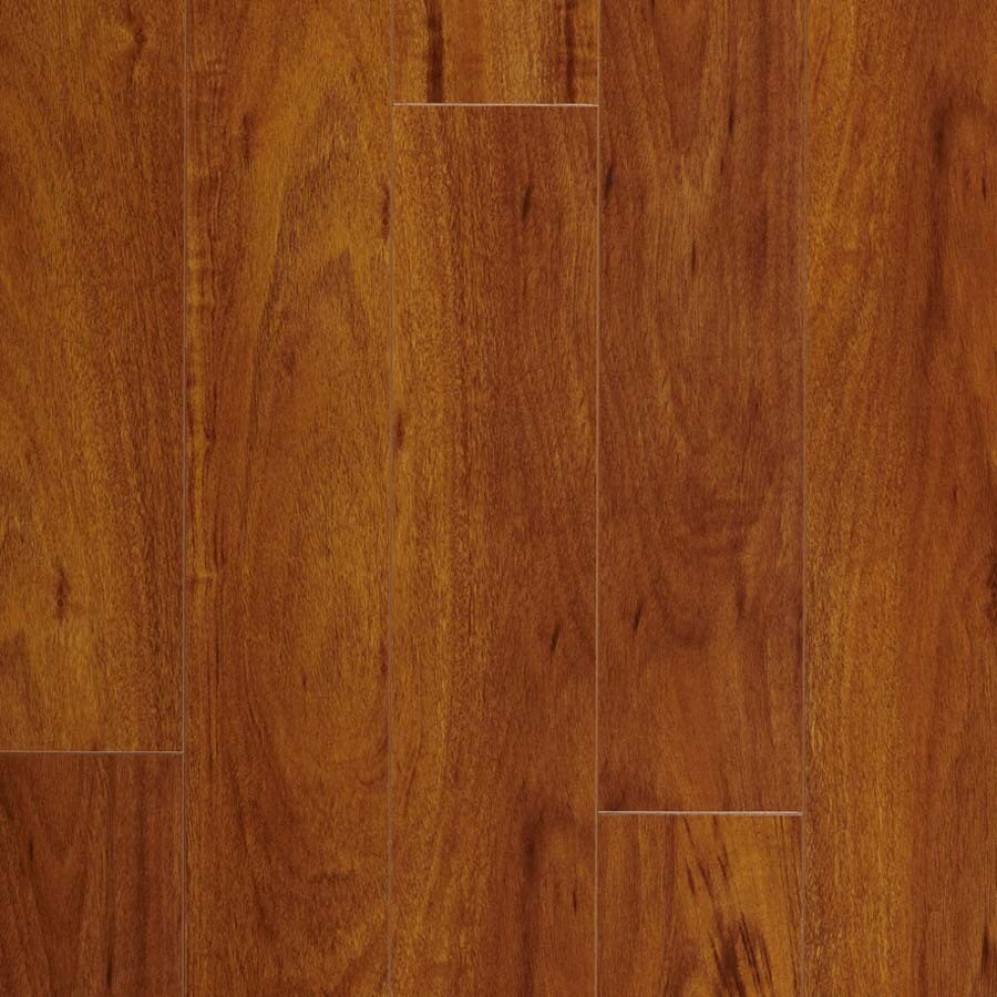Pergo Max 5-in W x 3.97-ft L Somerset Jatoba High-Gloss Laminate Wood Planks
