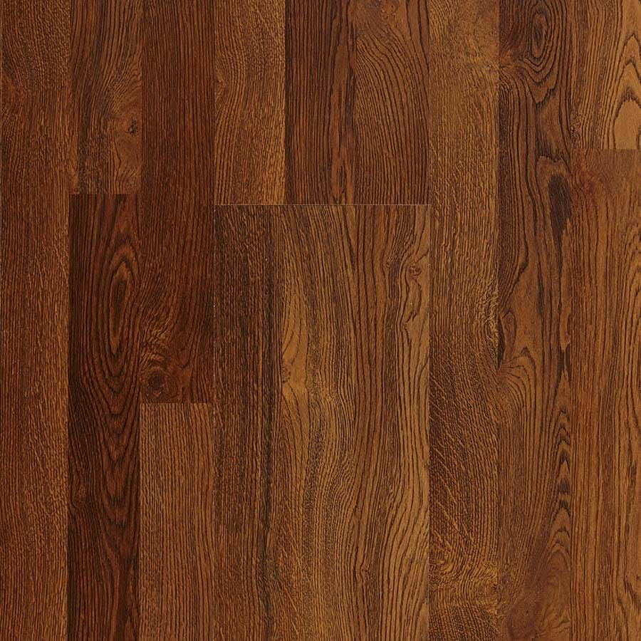 Pergo Max 7.61-in W x 3.96-ft L Sherwood Oak Embossed Laminate Wood Planks