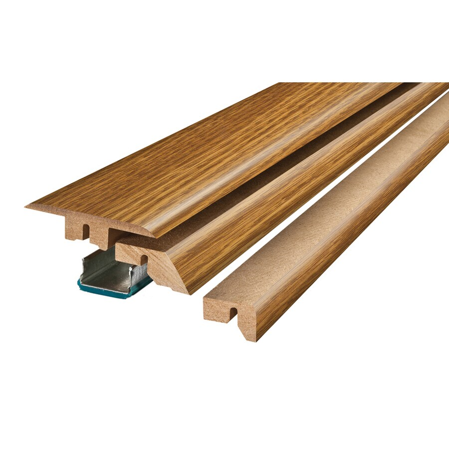 Pergo 2.37-in x 78.74-in Gunstock Oak 4-N-1 Floor Moulding