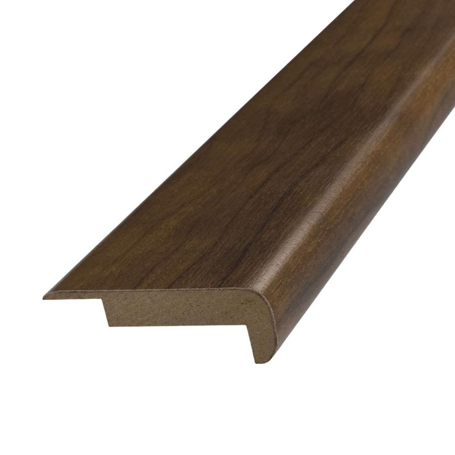 SimpleSolutions 2.37-in x 78.74-in Pecan Stair Nose Floor Moulding