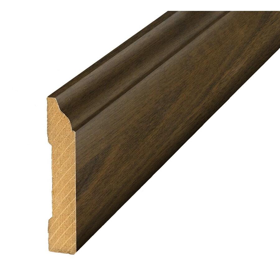 SimpleSolutions 3.3-in x 94.5-in Brown/Tan Maple Base Floor Moulding